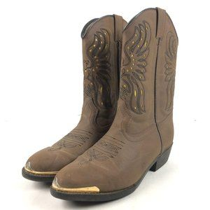 Cody James Phoenix Brown Leather Round Toe Pull On